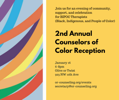 Second Annual Counselors of Color Reception, January 16th
